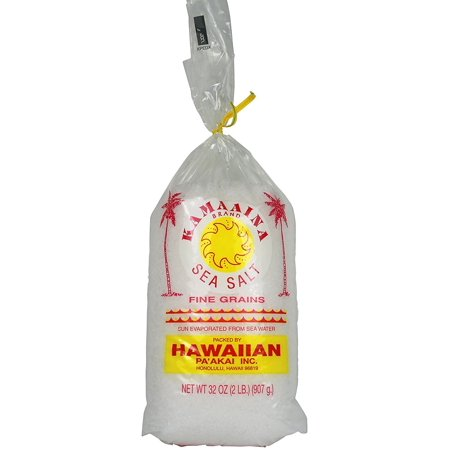 Kamaaina Brand Sea Salt - Fine Grains Net Wt. 32 Oz.