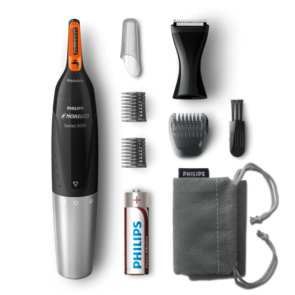 Philips Norelco Series 5000 Nosetrimmer 5100, Nose, Eyebrow and Ear Trimmer, NT5175/49