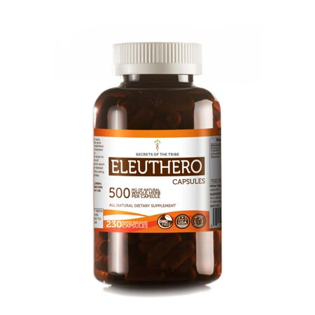 Eleuthero 230 Capsules, 500 mg, Organic Eleuthero (Eleutherococcus Senticosus) Siberian Ginseng Dried (Siberian Root Capsules)