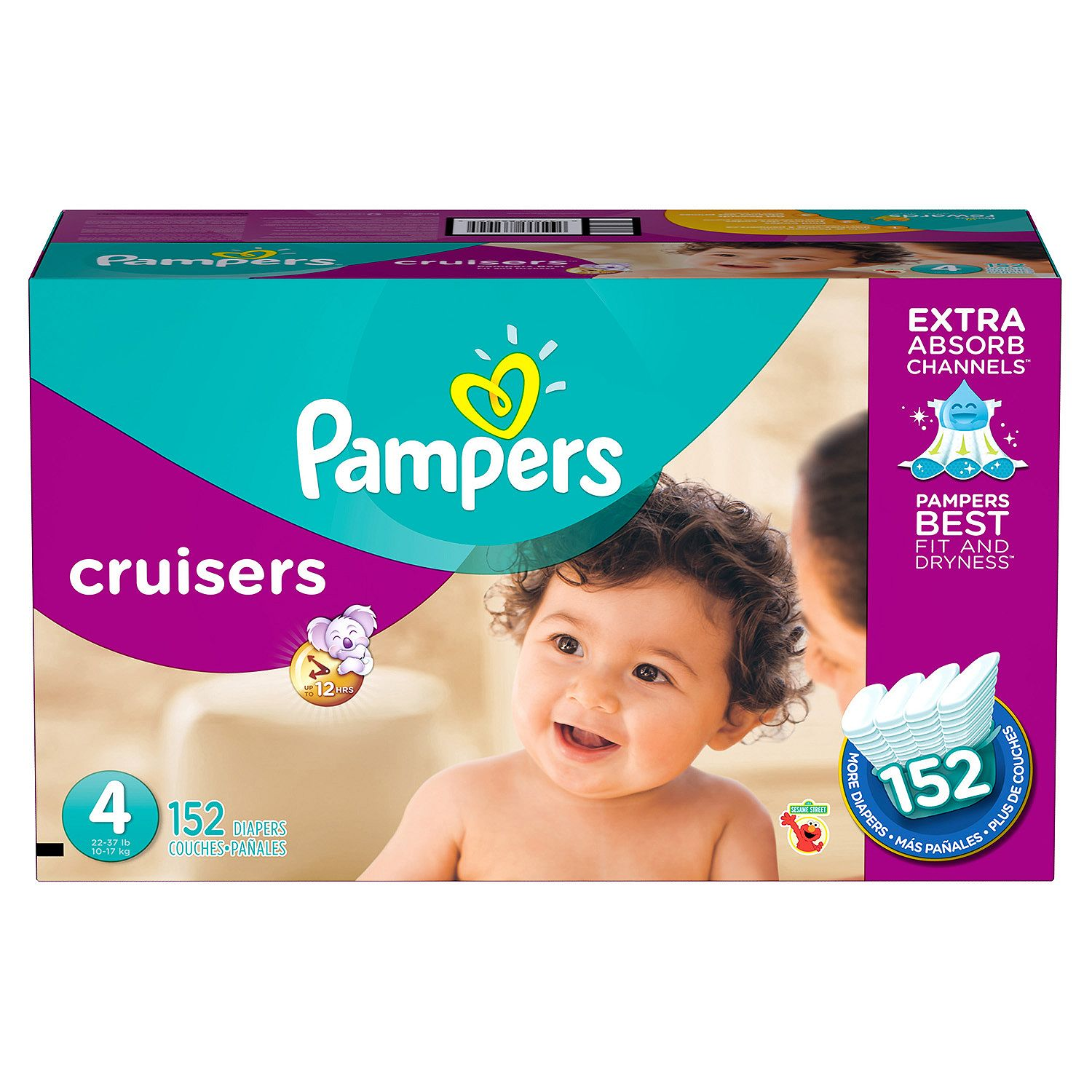 Pampers Cruisers Diapers Economy Pack - Diaper Size 4 - 1...