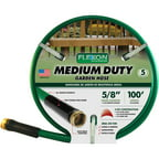 Flexon 100' Medium-Duty Garden Hose, Green