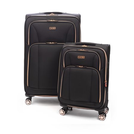 650384d54 iFLY - iFLY Softside Luggage Sunset 2 piece set, Black/Rose Gold -  Walmart.com
