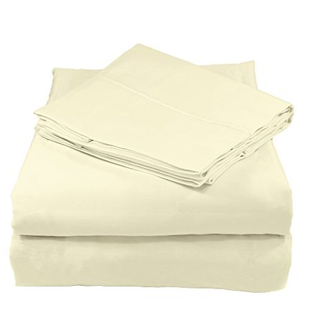 Whisper Organics 300 Thread Count Soft Cotton Full Bed Sheet Set (GOTS Certified), Natural Cotton Naturals Full Seat