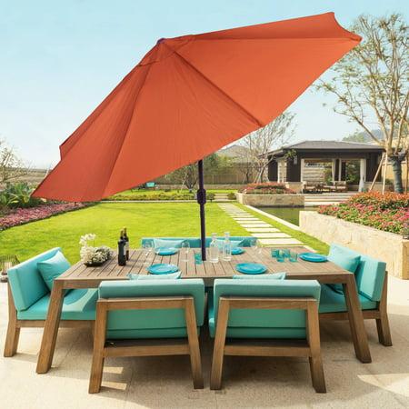 Pure Garden 10' Aluminum Patio Umbrella with Auto Tilt