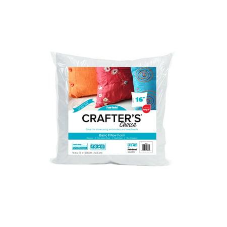 """Fairfield Crafter's Choice Pillow Insert, 16""""X16"""", 1 Each"""