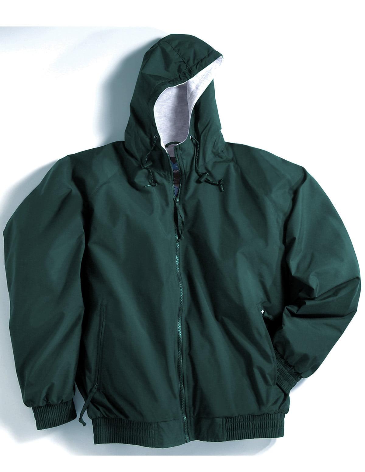 Tri-Mountain Bay Watch 3600 Nylon hooded jacket, 2X-Large, Black