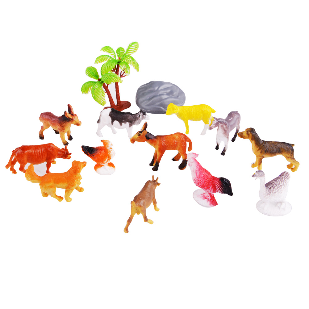 Farm Animal Action Figure Assortment Kids Educational Toy Set of 12