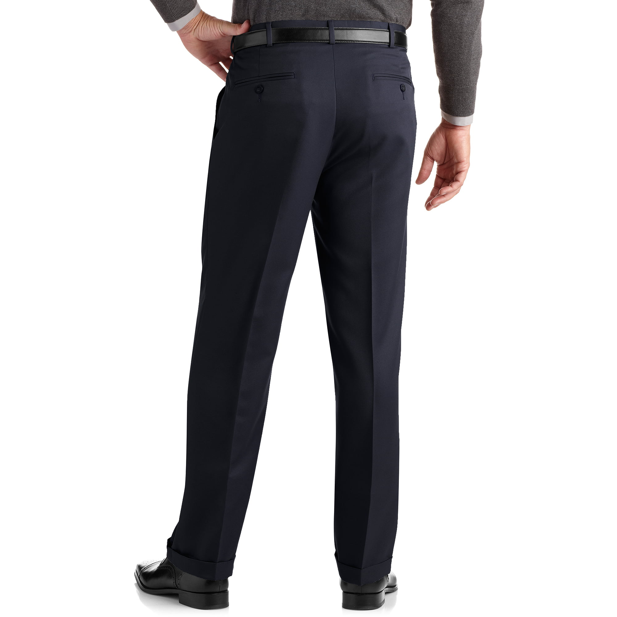 George Men's Half Elastic Twill Pants - Walmart.com