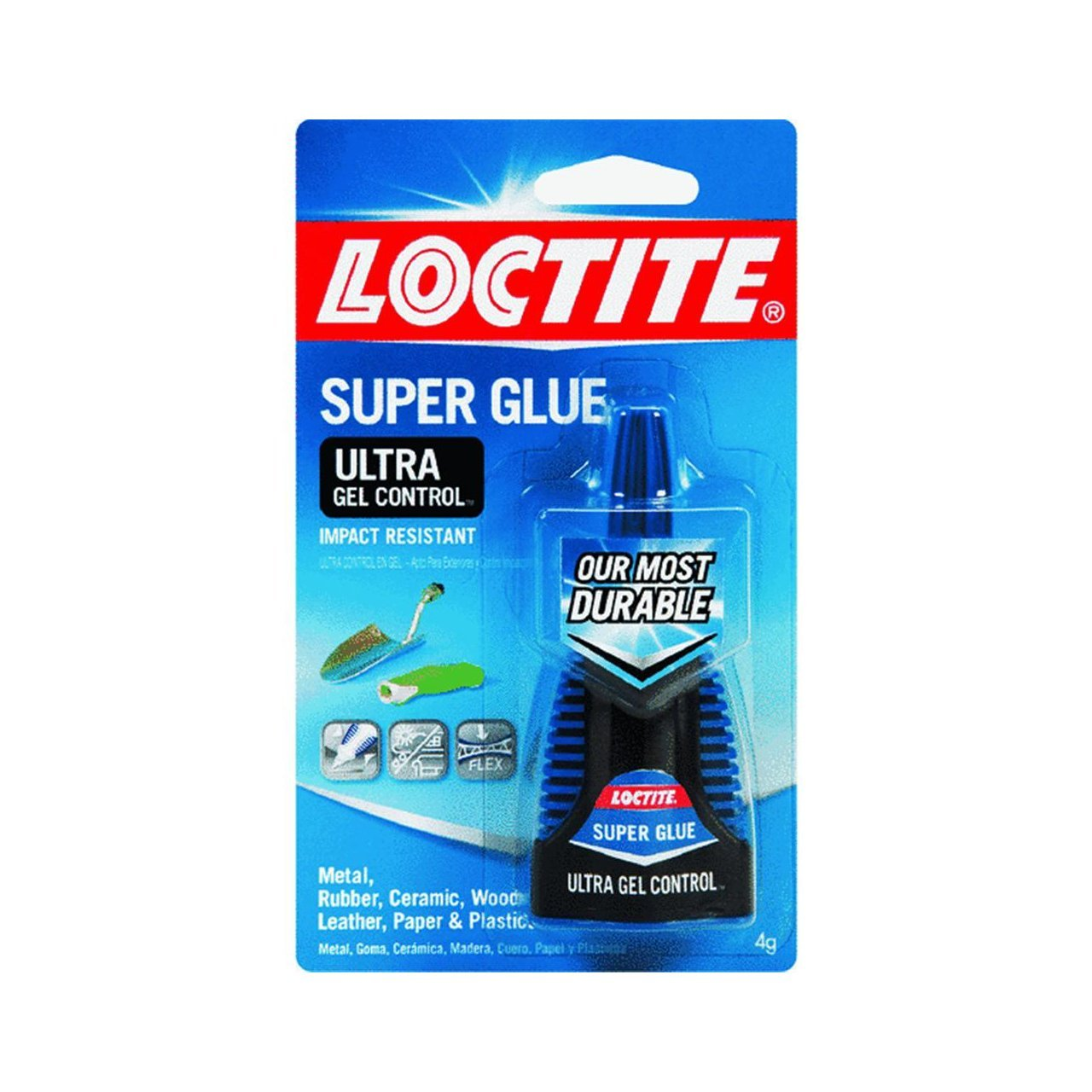 Loctite 1363589 4-Gram Bottle Super Glue Ultra Gel Control Adhesive, 3-Pack
