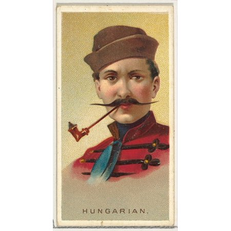 Hungarian from Worlds Smokers series (N33) for Allen & Ginter Cigarettes Poster Print (18 x