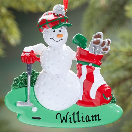 golf ball golfer personalized christmas ornament do it yourself