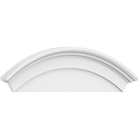 40 W x 14 H x 2 3 4 P Arched Architectural Grade PVC Pediment