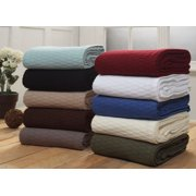 Impressions All-Season Luxurious 100% Cotton Blanket, Multiple Sizes and Colors