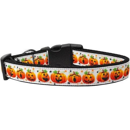 Pumpkin Parade Nylon Dog Collar Xs