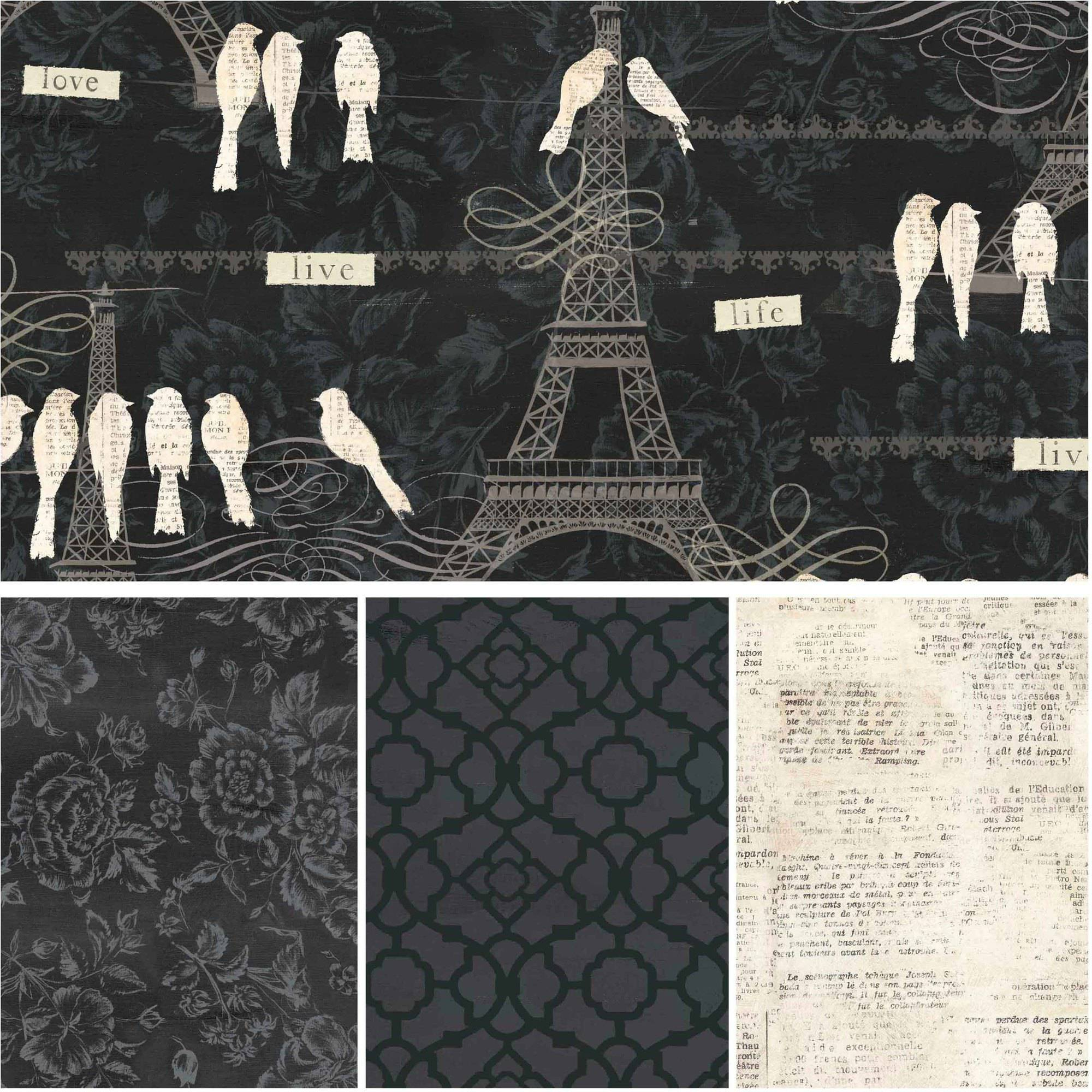 """David Textiles Love Paris Collection 44"""" Cotton Fabric By The Yard"""