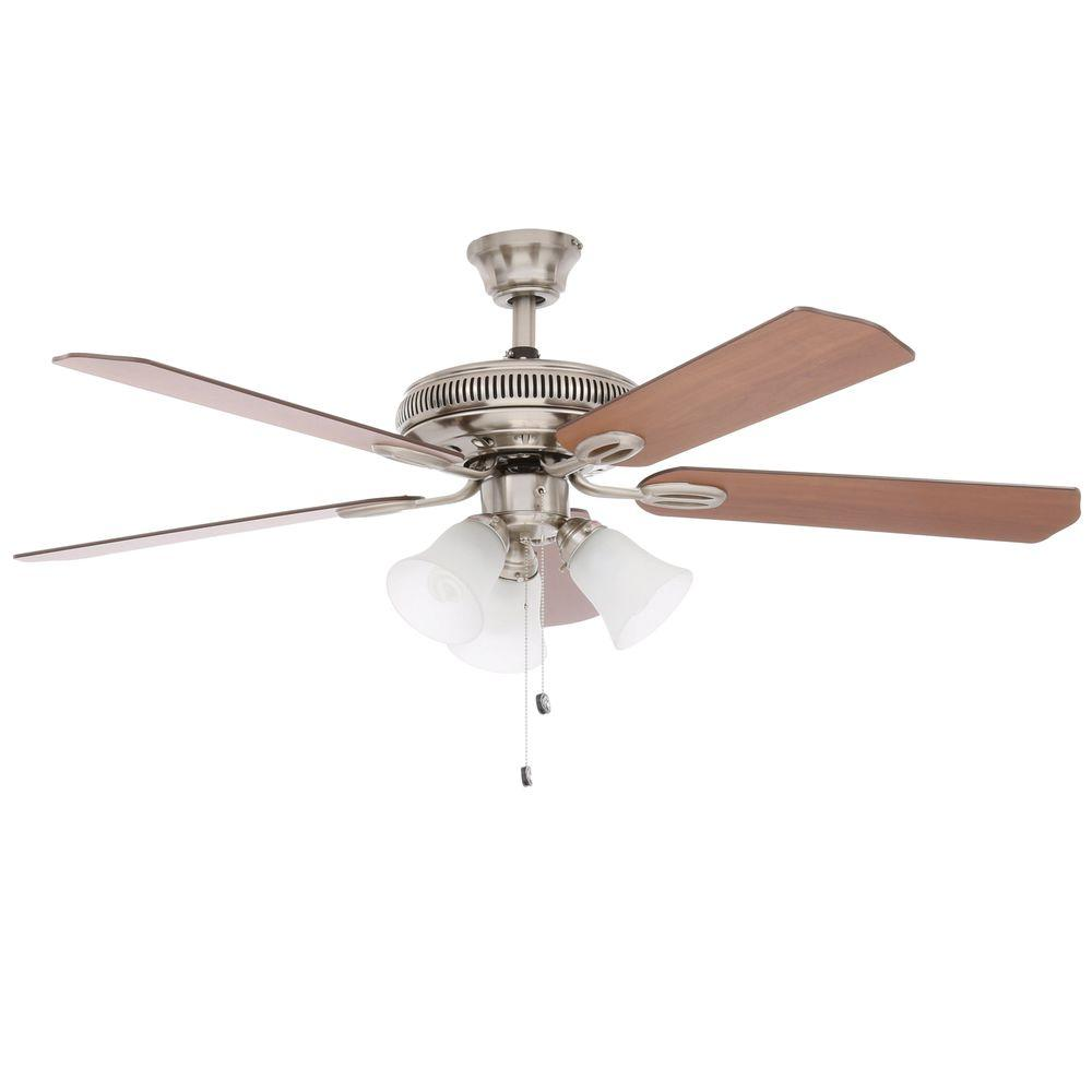 Hampton bay glendale 52 in brushed nickel ceiling fan walmart aloadofball Choice Image