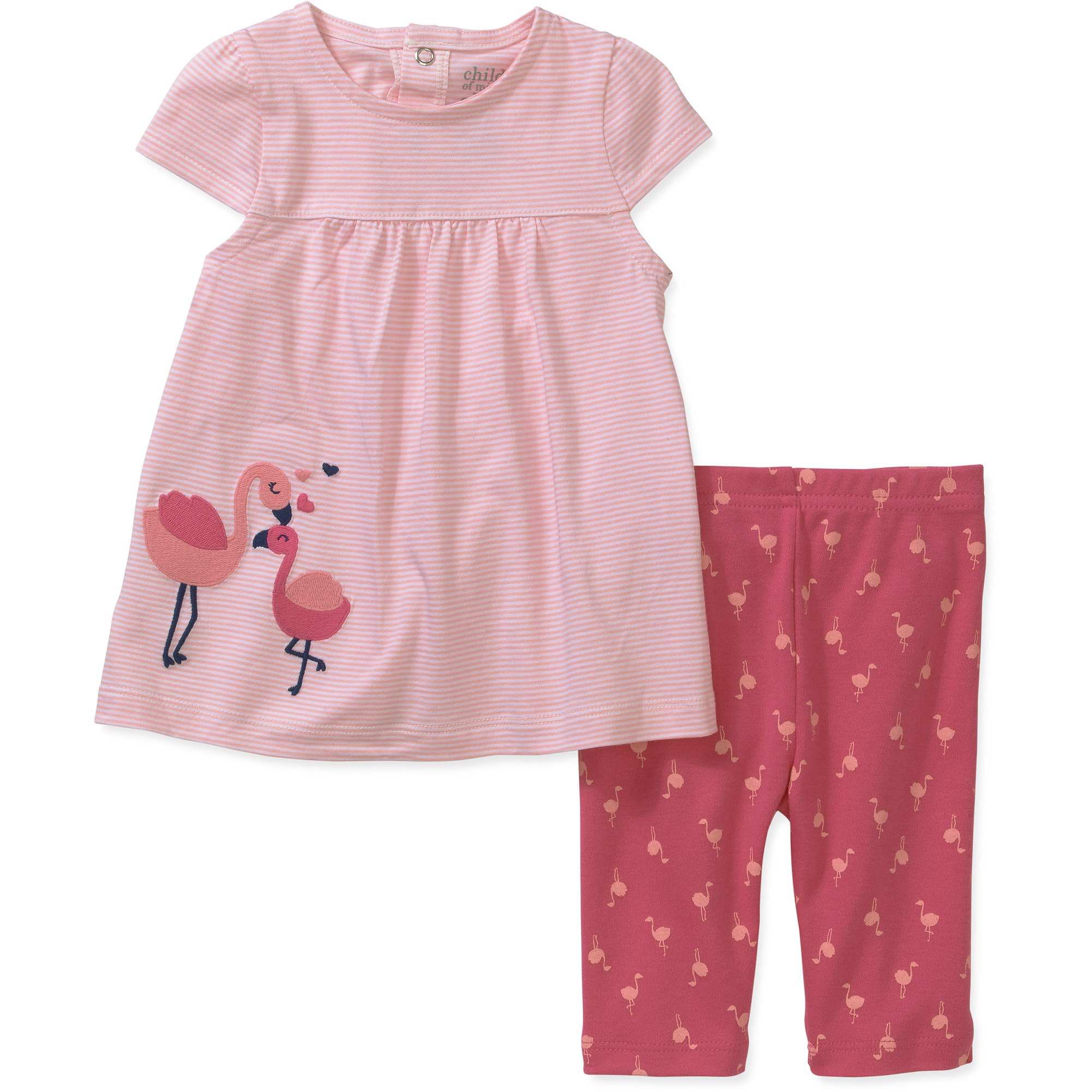 Child of Mine by Carters Newborn Girl Dress and Pants Set