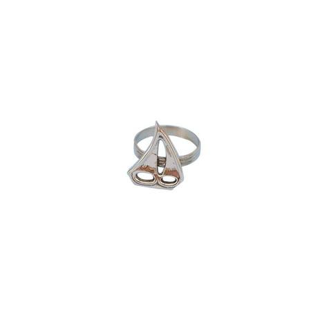 Brass Sailboat Napkin Ring 2