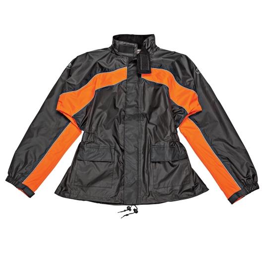 Joe Rocket RS-2 Mens Black/Orange Rain Suit