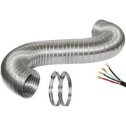 Certified Appliance 77010 8' Dryer Duct Kit with 4' Cord