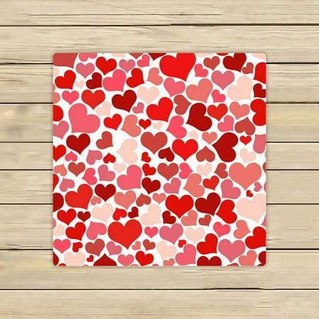 GCKG Valentine's Day Gift Pattern Hand Towel,Spa Towel,Beach Bath Towels,Bathroom Body Shower Towel Bath Wrap Size 13x13 inches