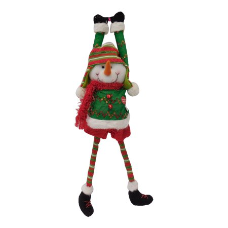 christmas decorations ornament gift animated singing shaking legs santa claus snowman 215 - Animated Christmas Elves Decorations