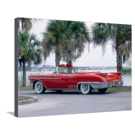 1958 Cadillac Eldorado Biarritz Stretched Canvas Print Wall (1958 Cadillac Eldorado Biarritz Convertible For Sale)