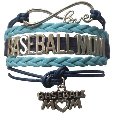 Baseball Mom Infinity Bracelet- Navy -