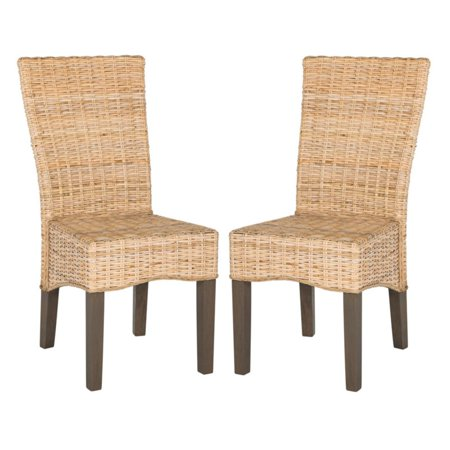 Ozias Wicker Dining Chair, Natural, Set of 2 ()