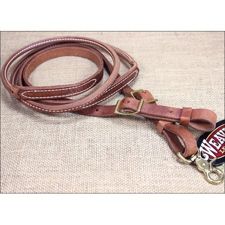 WEAVER RUSSET HARNESS LEATHER ROUND ROPER AND CONTEST HORSE REIN TACK (Dog Horses Harness)