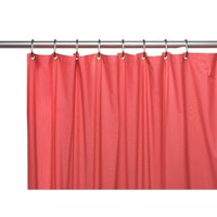 3 Gauge Vinyl Shower Curtain Liner w/ Weighted Magnets and Metal Grommets in Rose
