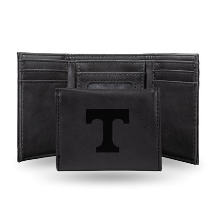 Tennessee Volunteers NCAA Laser Engraved Black Synthetic Leather Trifold Wallet Leather Tennessee Titans Tri Fold Wallet