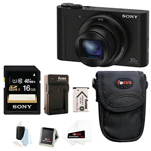 Sony Cyber-shot DSC-WX500 Digital Camera (Black) with 16GB Accessory Bundle