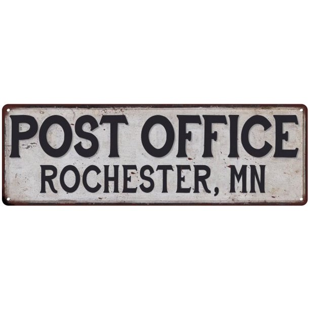 Rochester, Mn Post Office Personalized Metal Sign Vintage