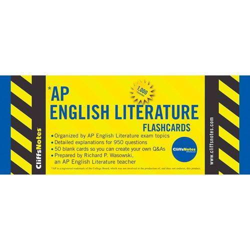 Cliffsnotes AP English Literature Flashcards