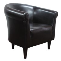 Newport Club Chair - Leatherette Walnut