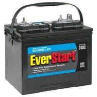 EverStart Lead Acid Marine & RV Deep Cycle Battery, Group Size 24DC (12 Volt/690 MCA)