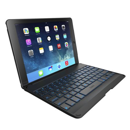 ZAGG Folio Case with Backlit Bluetooth Keyboard for iPad Air 2 (Best Rated Ipad Air 2 Keyboard Case)