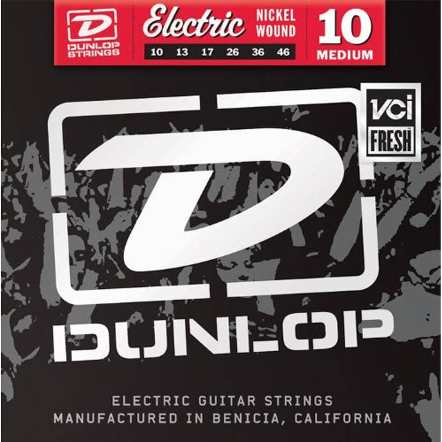 Dunlop DEN1046 Nickel-Plated Steel Medium Electric Guitar 6-String Set 3 Pack .010-.046 by Dunlop