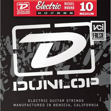 Dunlop - DEN1046 - Nickel-Plated Steel Medium Electric Guitar 6-String - Set 3 Pack - .010-.046