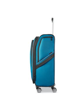 """American Tourister Zoom Turbo 25""""Checked-Medium Dual Spinner, Teal"""