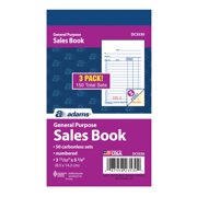 Adams 2-Part Carbonless Sales Order Record Book, 3 Pack