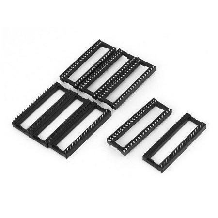 2mm Pitch PCB Solder Type 40 Pins DIP IC Chip Sockets Adapter Black 8 Pcs