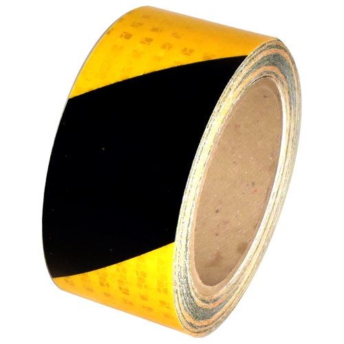 2 in x 30 ft Yellow/Black Super Bright High Intensity Reflective Tape