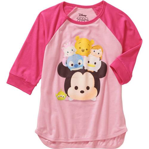 Disney t Shirt Tee Tsum Tsum Girls Ruffle Sleeve Top Size 7//8 10//12 New Characte