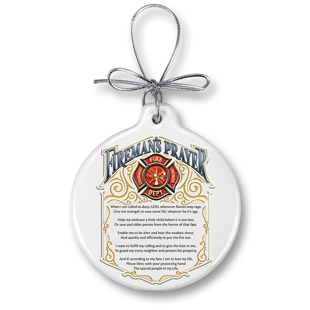 Fireman's Prayer-Christmas Tree Ornaments