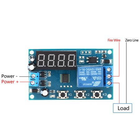 Multifunction Delay Time Module Switch Control Relay Cycle Timer DC 12V - image 3 of 7