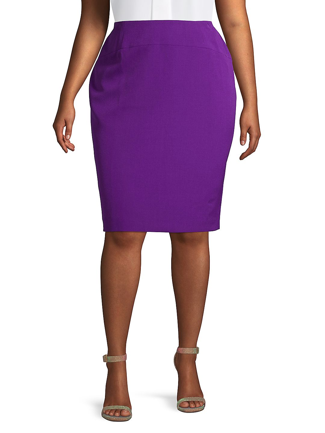 Plus Fitted Pencil Skirt