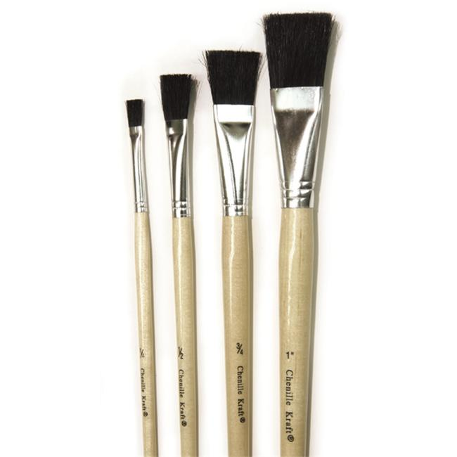 Chenille Kraft CK-5942 Stubby Easel Brushes. 75 Set Of 6