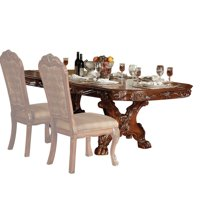 ACME Dresden Dining Table with Trestle Pedestal in Cherry Oak